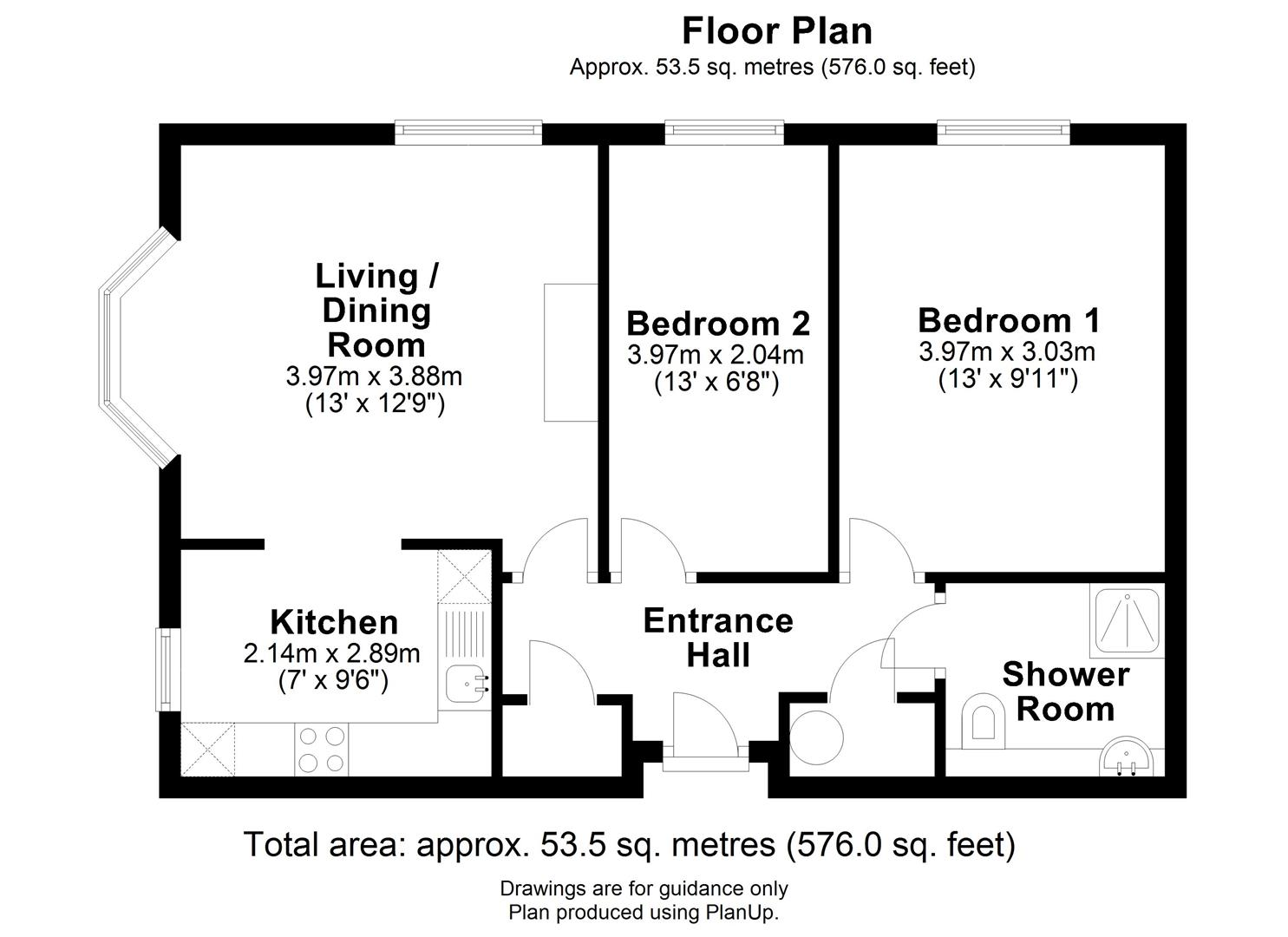 Floor plan Burling Court, Cambridge